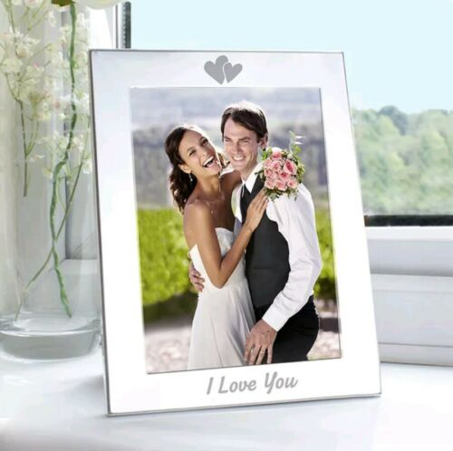 I Love You 5x7 Silver Photo Frame For Loved One Birthday Wedding Anniversary