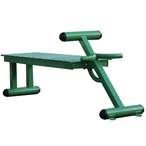 Stamina 65-2300 Steel Frame Portable Outdoor Fitness and Exercise Bench, Green