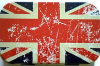 slim 1oz hinged Distressed Union Jack tobacco tin with  rolling papers