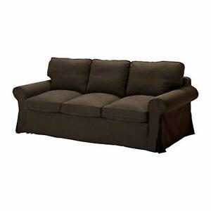 économiser ce474 ee02a Détails sur IKEA EKTORP 3 places Canapé lit (Assemblage) Housse-svanby Brun  301.824.28- afficher le titre d'origine
