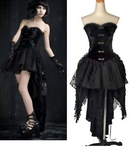 PUNK gothic sexy Kera Corset swallow-tailed dress Q160