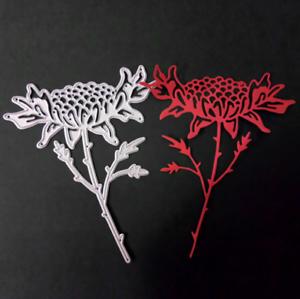 Stanzschablone-Chrysantheme-Hochzeit-Oster-Geburtstag-Valentin-Karte-Album-Deko