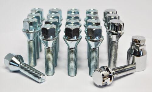 conique Boulon de roue et casiers silver 42mm thread 20 x m12 x 1,25
