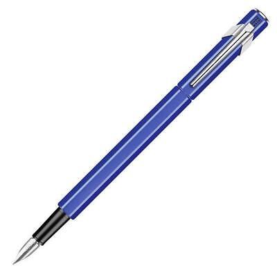 Sapphire Blue Caran D/'Ache 849 Fountain Pen Medium Nib #840.159