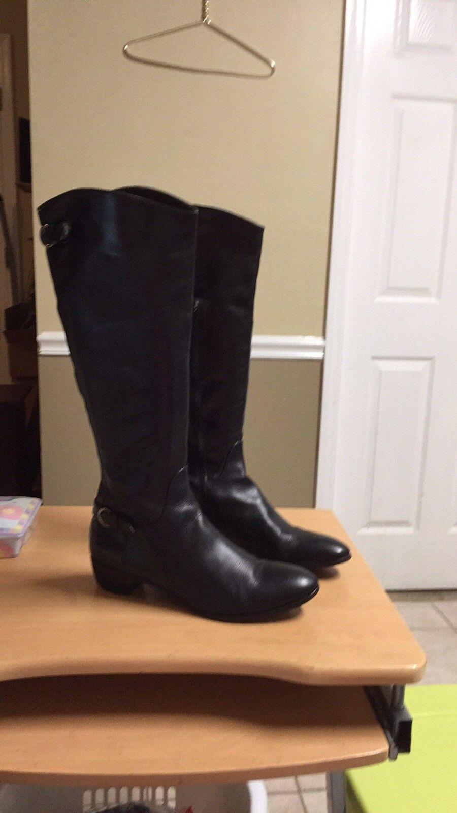AGL ATTILIO GIUSTI LEOMBRUNI Leather Knee High Zip bottes  Euro 41.5