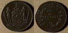British North Borneo : 1896H 1 Ct  XF- Several Dings  #2  IR2886