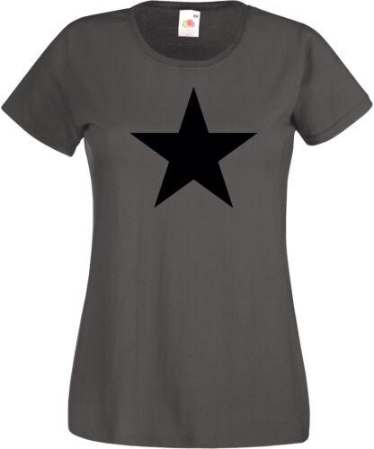 BLACK STAR Girlie-T-Shirt anthrazit