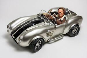 Statuina figura Caricatura Shelby Cobra Silver Comic Art Forchino 61 cm Maxi