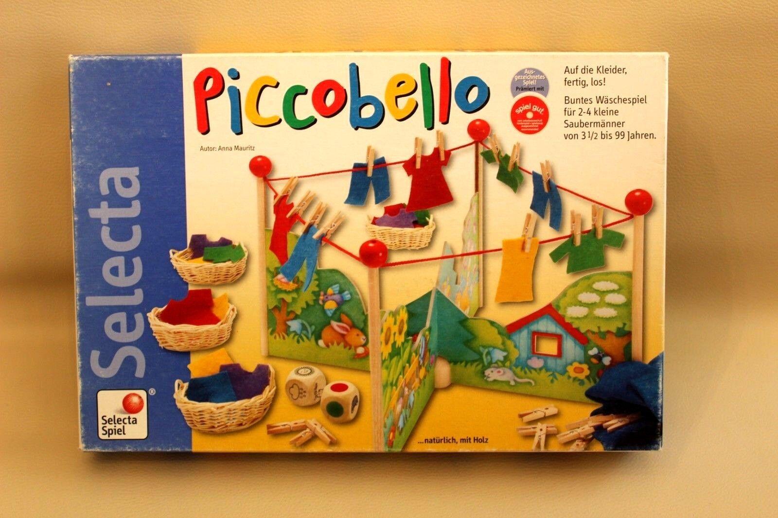 Piccobello - Jeu de société éducatif coopératif - étendre le linge multiCouleure