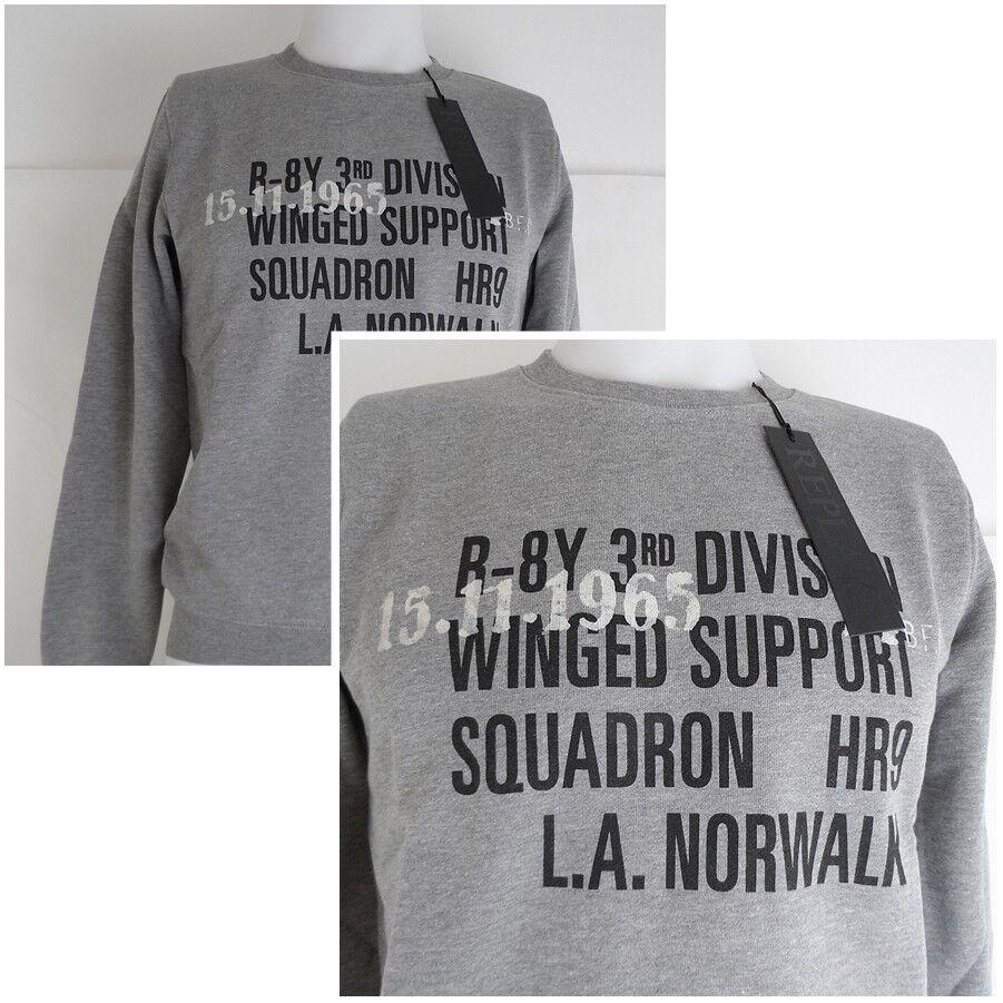 Replay Sweatshirt Farbe hellgrau NEU  119,00 EUR- Bei uns nur 49,99 EUR
