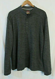 RailRiders-Heathered-Gray-Polyester-Nylon-Henley-Pullover-Shirt-Men-039-s-XL-NWOT