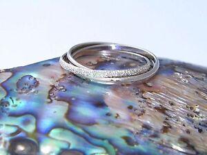 Sterling Silver Interlocking Triple Band Rolling Ring Trinity Russian Wedding-Custom size