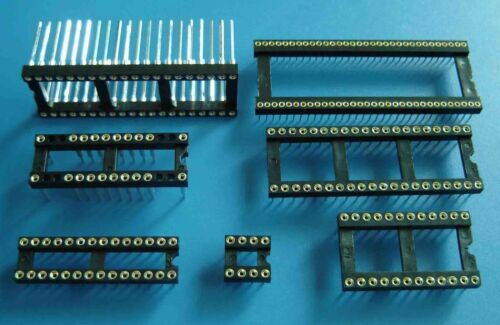 Regular or machine tooled Assorted Sizes available DIP IC Sockets