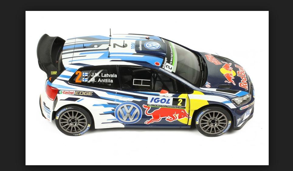 Volkswagen Polo R WRC Tour de Corse 2016 Latvala Anttila 1 18 18RMC018B Ixo