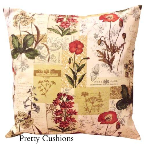 Prestigious textiles fleurs sauvages cannelle country diary housse de coussin