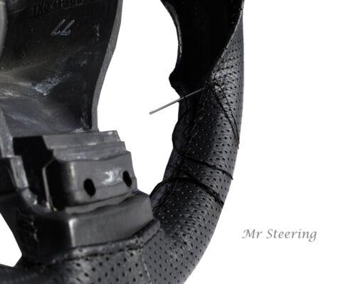 Fits bmw x5 e53 99-06 qualité en cuir noir perforé volant couvrir