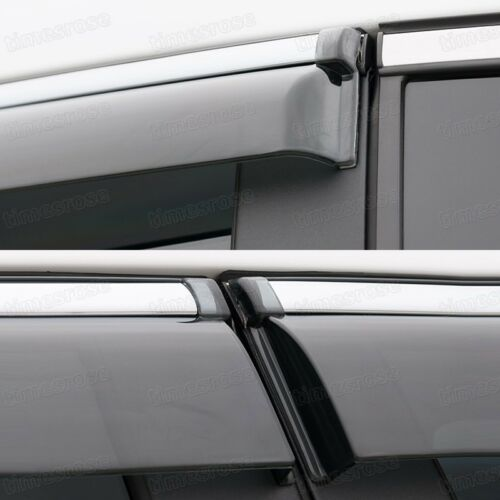 Front /& Rear Window Visor Deflectors Vent Shade for Honda Accord Sedan 2008-2012