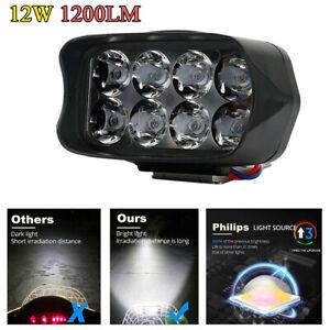 12W-1200LM-Motorcycle-Headlight-Scooter-Fog-Spotlight-LED-Spot-Light-White-DRL