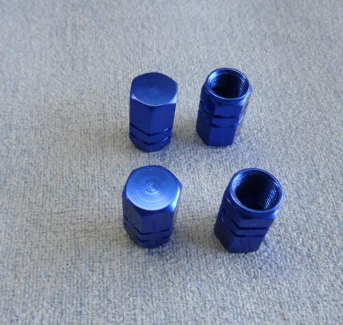 *BLUE//BLACK//GOLD//RED//SILVER* Metallic Valve Dust Cover Caps *Inner Rubber Rings*