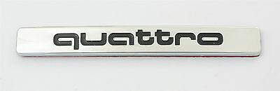 Fit For Audi Quattro Chrome Badge Emblem A4 S3 S4 TT RS4 for Rear Trunk Bumper