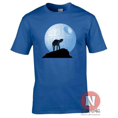 AT-AT howling at the Death Star Wars parody spoof funny t-shirt atat Empire