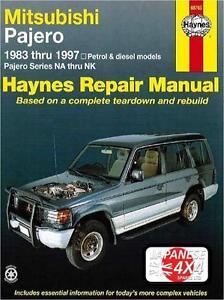 mitsubishi pajero shogun haynes manual 1983 1997 2 6 3 0 3 5 pet rh ebay com 1999 Mitsubishi Montero 2001 Mitsubishi Montero