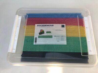 MIX Eimer 250 Stück Verglasungsklötze Unterleger Glasklötze 100x34x 1,2,3,4,5,6