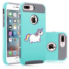 For Apple iPhone SE 5s 6 6s 7 Plus Shockproof Hard Case Cover Rainbow Unicorn