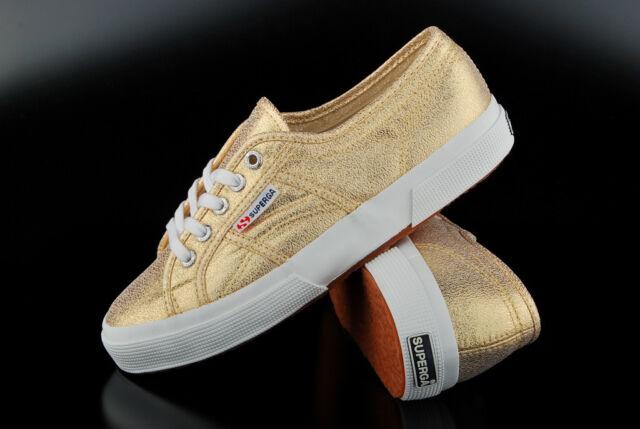 Superga SCHUHE Sneaker LAMEW Classic Gold 2750 Gr. 41