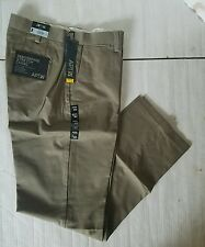 NWT MENS APT 9 PERFORMANCE STRETCH CHINO SLIM FLAT FRONT PANT $55 BROWN APCP8106
