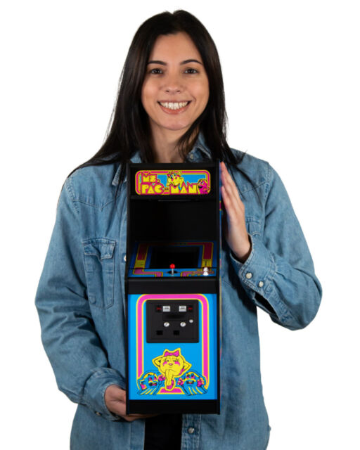 Official Ms Pac-Man Quarter Size Arcade Cabinet