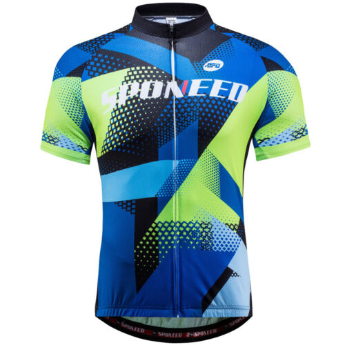 Reflective Bicycle Clothes Quick Dry Bike Cyclist Short Biking Shirts for Men