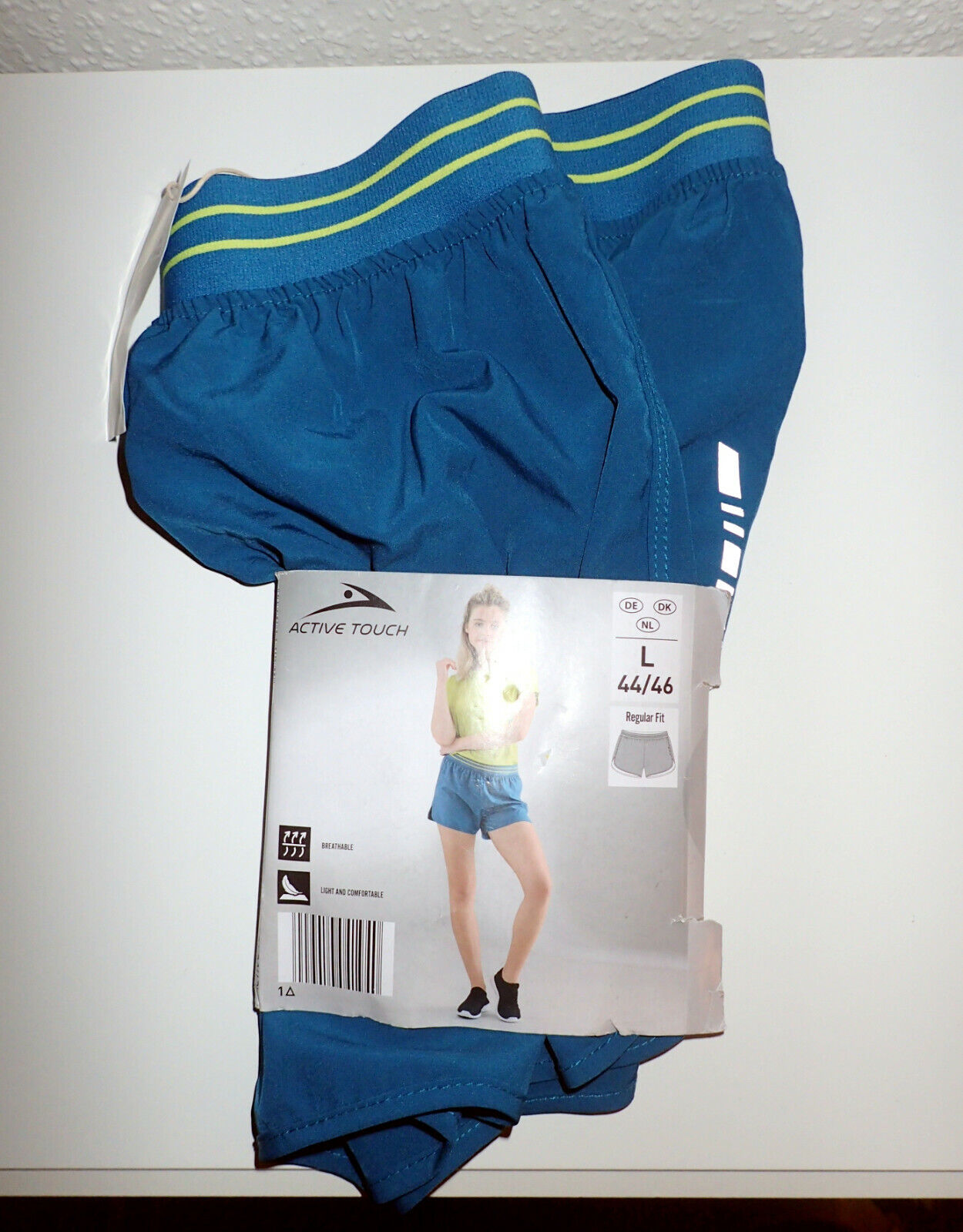 Active Touch, Damen Lauf-Shorts, blau/petrol, Gr. S (36/38), neu!