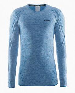 Funktionsshirt-CRAFT-Active-Comfort-Herren-lange-Armel-Kompression-blau