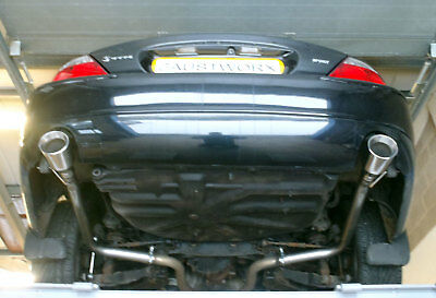 "Jaguar S Type R 4.2 V8 Rear silencer delete pipes 4/"" Tail pipe style A"