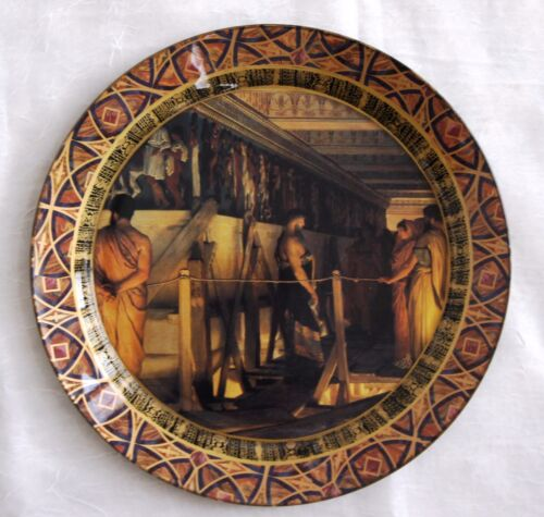 "DURWIN RICE New York artist Decoupage Plate 13"" One of a kind!"