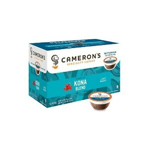 Cameron's Coffee Single Serve EcoPods KONA BLEND, 12 Ct Light Roast (Pack of 1)
