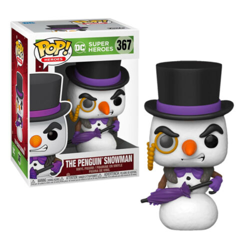Vinyl Figure #367 DC Comics Penguin Snowman Holiday Exclusive Pop
