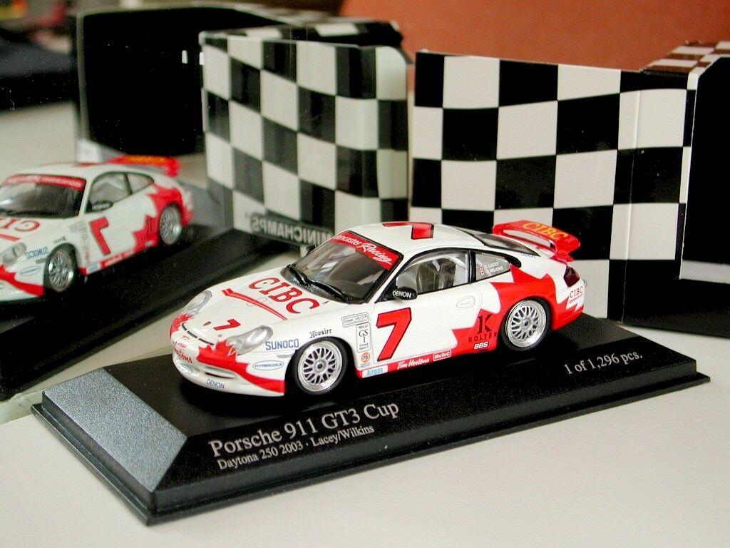 estar en gran demanda 1 43 Minichamps PORSCHE 911 911 911 GT3 Cup Daytona 250  7 (2003) +  81 (2003) Diecast  Disfruta de un 50% de descuento.