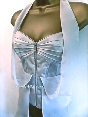 Uk 10 Silver Womens Evening Millen Eu Grey Corset New Karen 38 Top Size Bustier wztRqPR