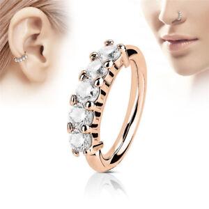 Nose Ring Ear Hoop Tragus Helix Cartilage Earrings Crystal Stainless Steel  yu