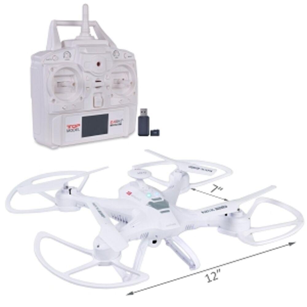 Quadcopter drohne (7,0) w   hd - kamera led - lichter spiegeln - 2.4ghz 4-ch   6 - achs - fernbedienung
