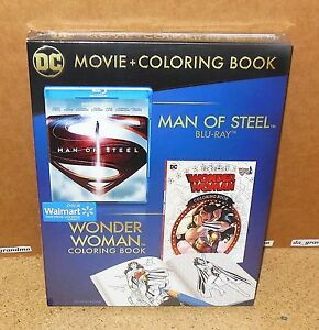 MAN of STEEL with WONDER WOMAN COLORING BOOK (Walmart Exclusive Blu ...