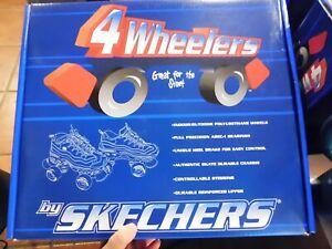 Skechers-4-Wheelers-Skates-Brand-New-in-Box-Men-039-s-9-Black-amp-Silver-BR