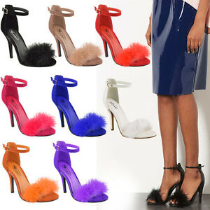 LADIES-WOMENS-MID-HIGH-HEEL-STILETTO-SANDALS-ANKLE-STRAP-CUFF-PARTY-COURT-SHOES