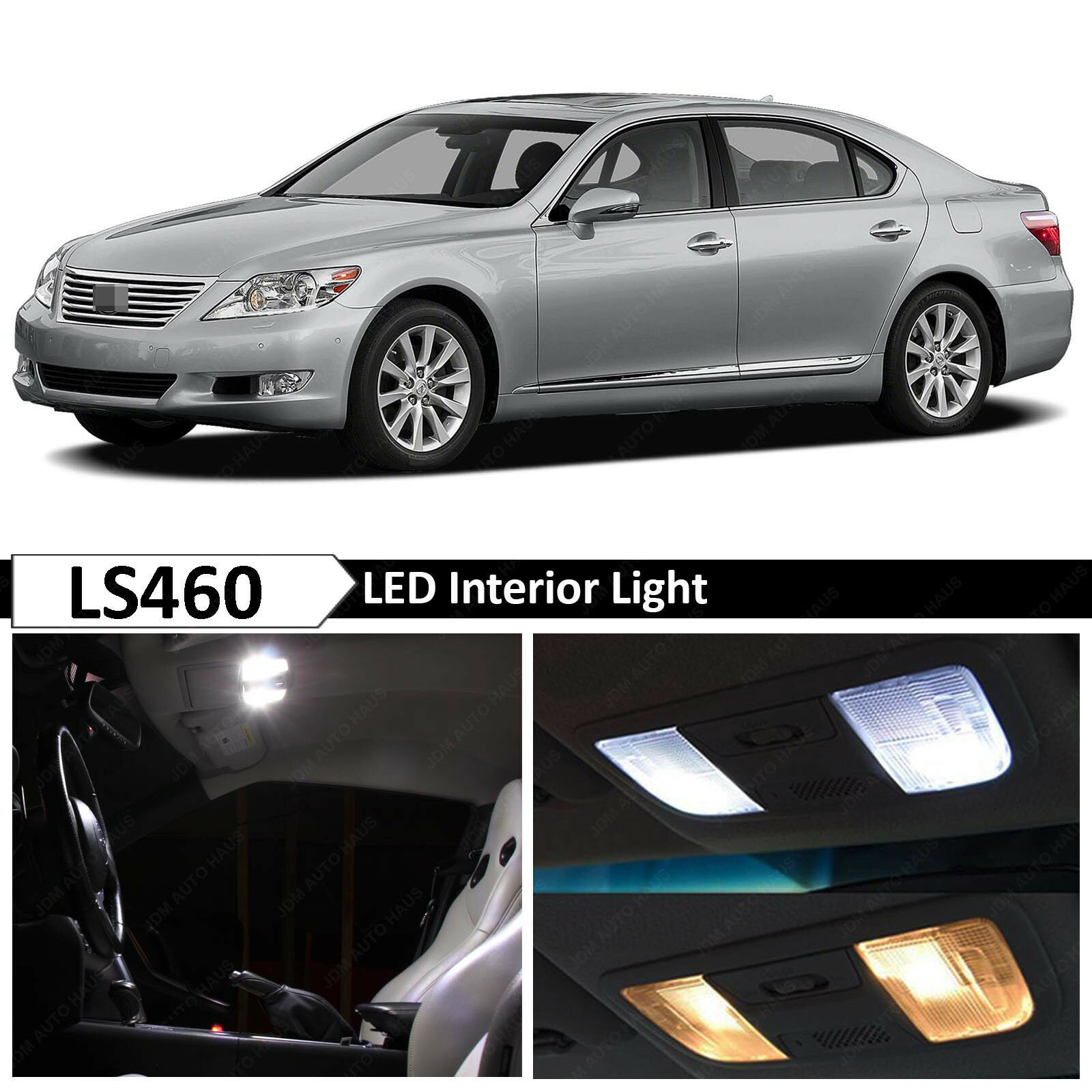 2013 Lexus Ls460 For Sale: 15x White Interior LED Lights Package For 2007-2012 Lexus