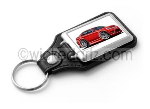 RetroArtz Cartoon Car Ford Mondeo MK3 ST220 in Red Classic Key Ring