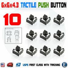 10pcs 6x6x4 3 Pcb Momentary Tactile Tact Push Button Switch 4pin Dip Micro Mini