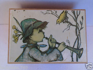 Vintage Thorens Music Box With Hummel Picture /Song Lara's Theme