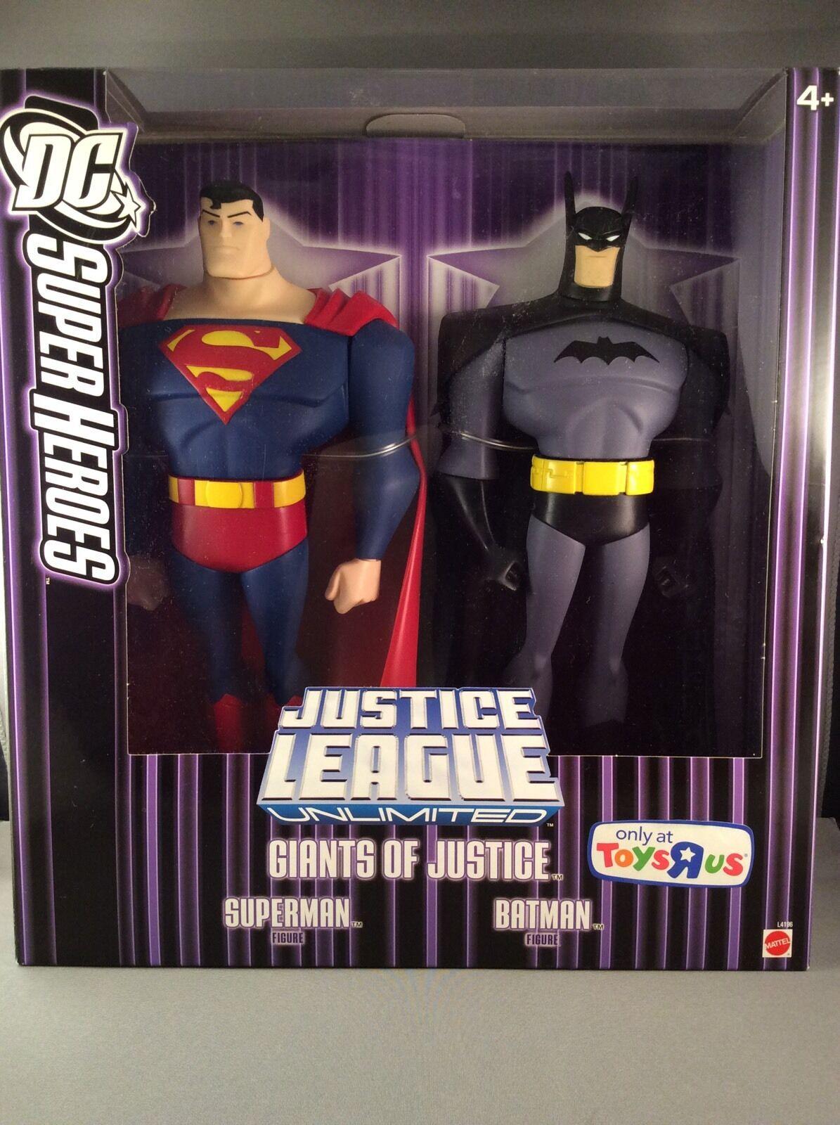 Dc - helden der gerechtigkeit superman und batman 10 riesen.original (glas)